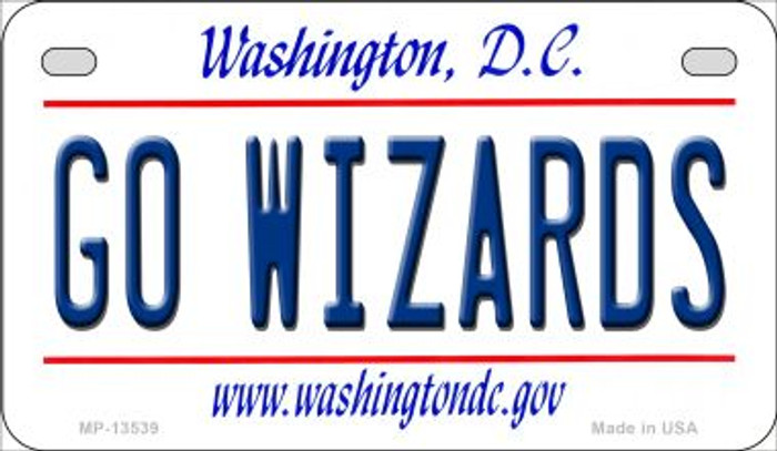 Go Wizards Novelty Metal Motorcycle Plate MP-13539