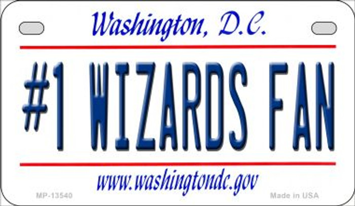 Number 1 Wizards Fan Novelty Metal Motorcycle Plate MP-13540