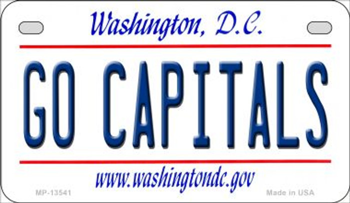 Go Capitals Novelty Metal Motorcycle Plate MP-13541