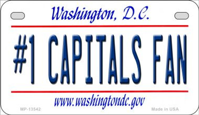 Number 1 Capitals Fan Novelty Metal Motorcycle Plate MP-13542