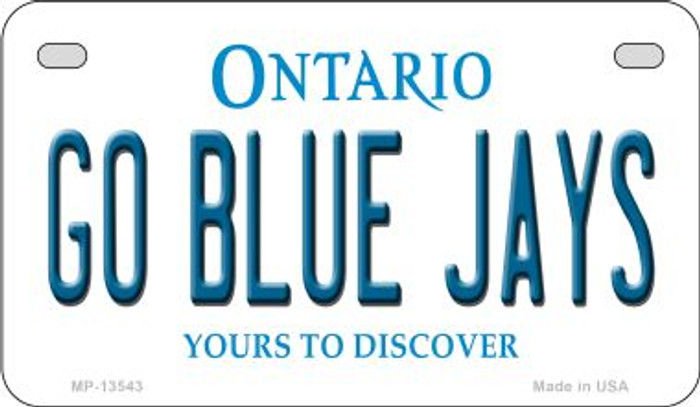 Go Blue Jays Novelty Metal Motorcycle Plate MP-13543
