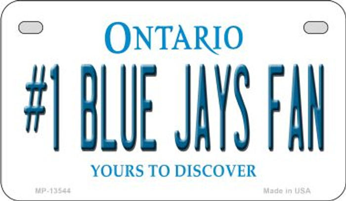 Number 1 Blue Jays Fan Novelty Metal Motorcycle Plate MP-13544