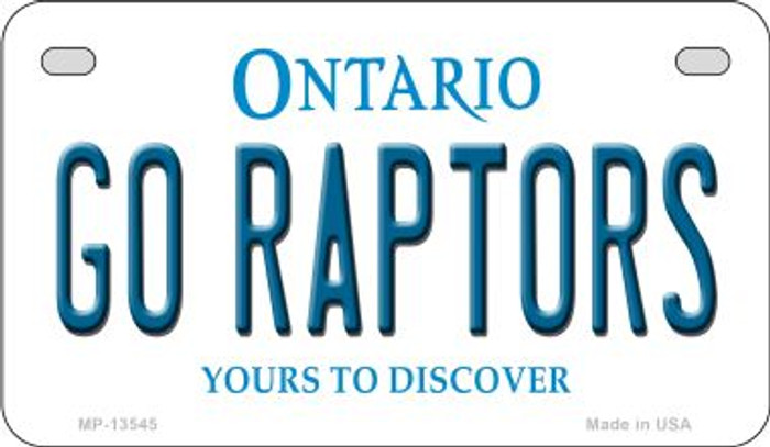Go Raptors  Novelty Metal Motorcycle Plate MP-13545