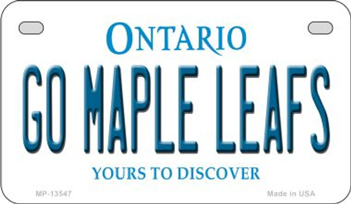 Go Maple Leafs Novelty Metal Motorcycle Plate MP-13547