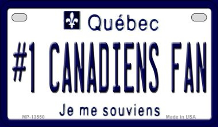 Number 1 Canadiens Fan Novelty Metal Motorcycle Plate MP-13550