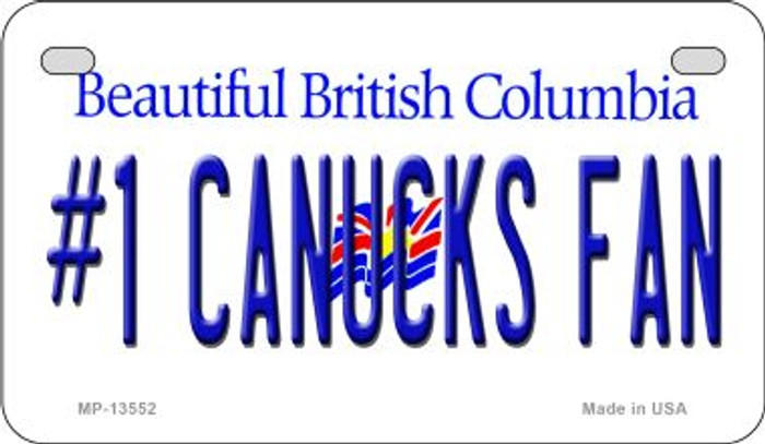 Number 1 Canucks Fan Novelty Metal Motorcycle Plate MP-13552