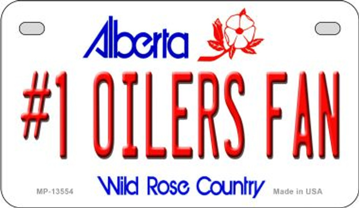 Number 1 Oilers Fan Novelty Metal Motorcycle Plate MP-13554
