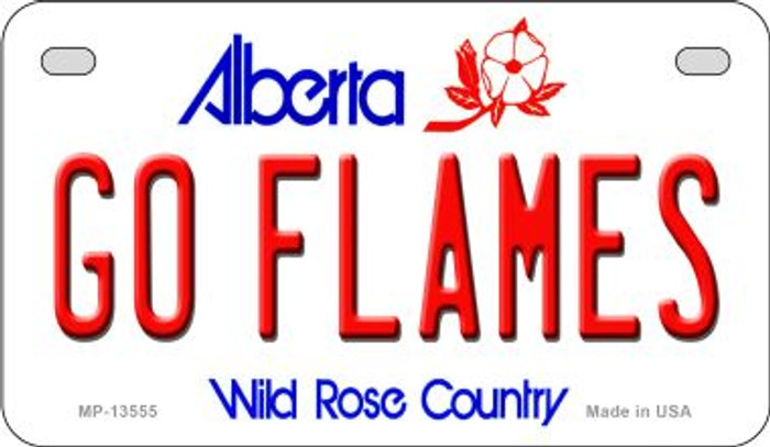 Go Flames Novelty Metal Motorcycle Plate MP-13555
