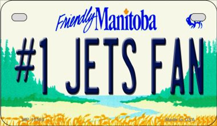 Number 1 Jets Fan Novelty Metal Motorcycle Plate MP-13558