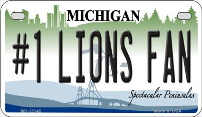 Number 1 Lions Fan Novelty Metal Motorcycle Plate MP-13145