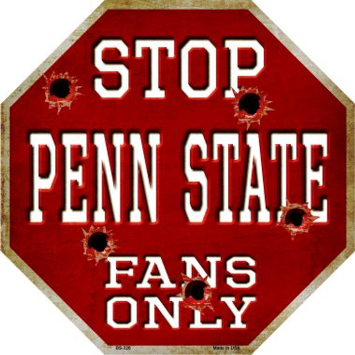 Penn State Fans Only Metal Novelty Octagon Stop Sign BS-326
