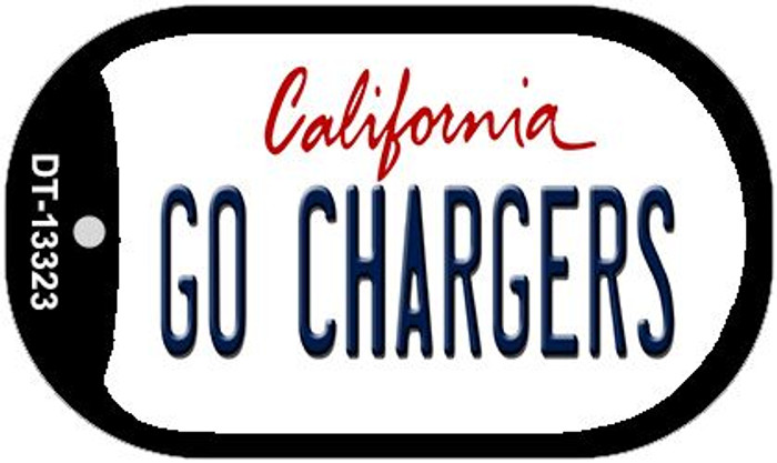 Go Chargers Novelty Metal Dog Tag Necklace DT-13323