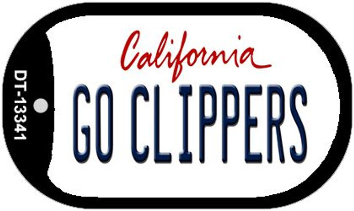 Go Clippers Novelty Metal Dog Tag Necklace DT-13341