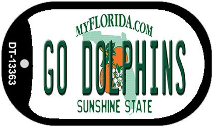 Go Dolphins Novelty Metal Dog Tag Necklace DT-13363