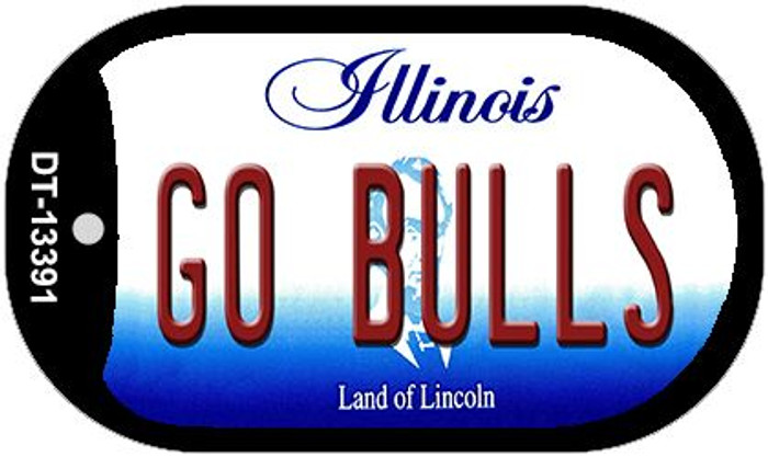 Go Bulls Novelty Metal Dog Tag Necklace DT-13391