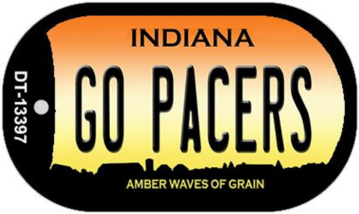 Go Pacers Novelty Metal Dog Tag Necklace DT-13397