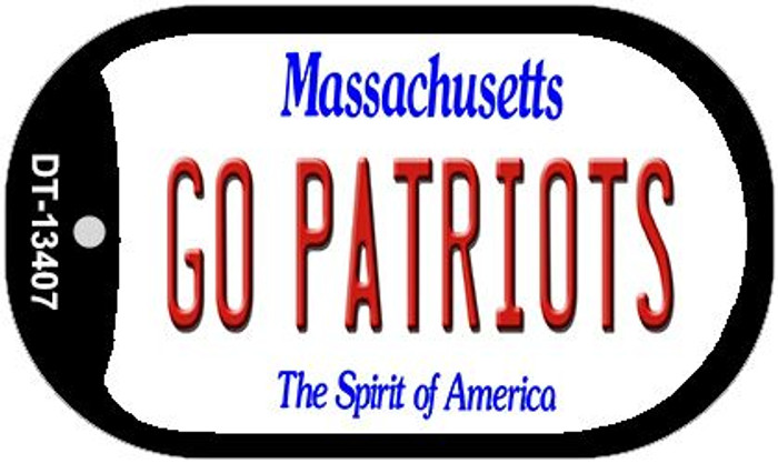 Go Patriots Novelty Metal Dog Tag Necklace DT-13407