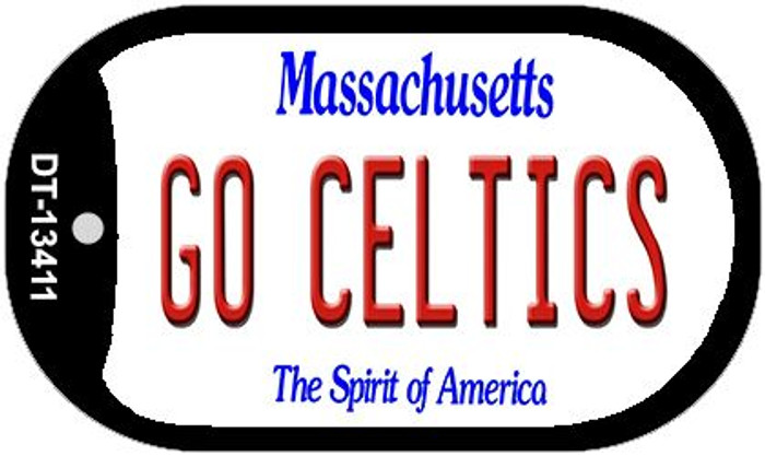 Go Celtics Novelty Metal Dog Tag Necklace DT-13411
