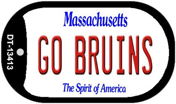 Go Bruins Novelty Metal Dog Tag Necklace DT-13413