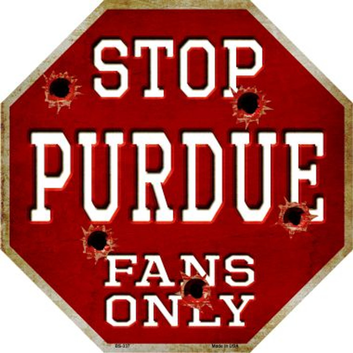 Purdue Fans Only Metal Novelty Octagon Stop Sign BS-337