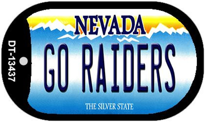 Go Raiders Novelty Metal Dog Tag Necklace DT-13437