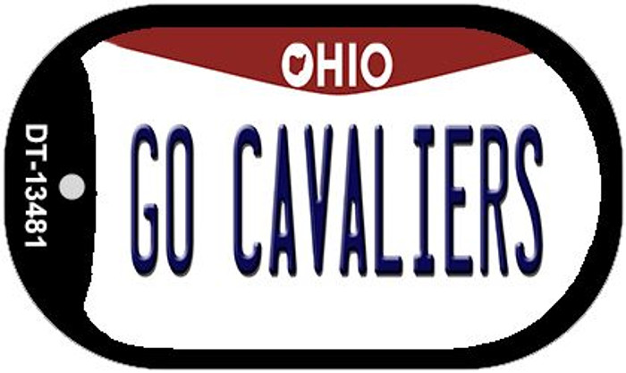 Go Cavaliers Novelty Metal Dog Tag Necklace DT-13481