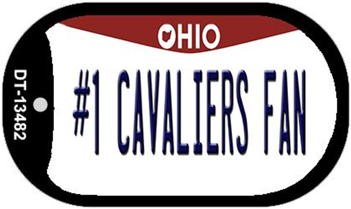 Number 1 Cavaliers Fan Novelty Metal Dog Tag Necklace DT-13482