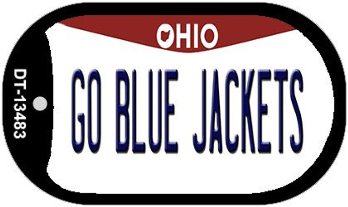 Go Blue Jackets Novelty Metal Dog Tag Necklace DT-13483