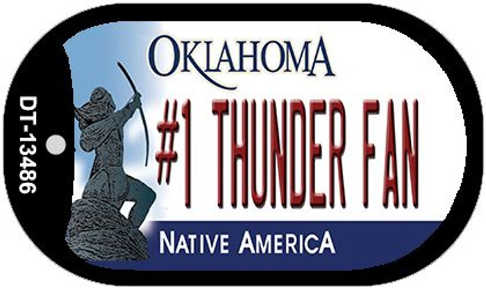 Number 1 Thunder Fan Novelty Metal Dog Tag Necklace DT-13486