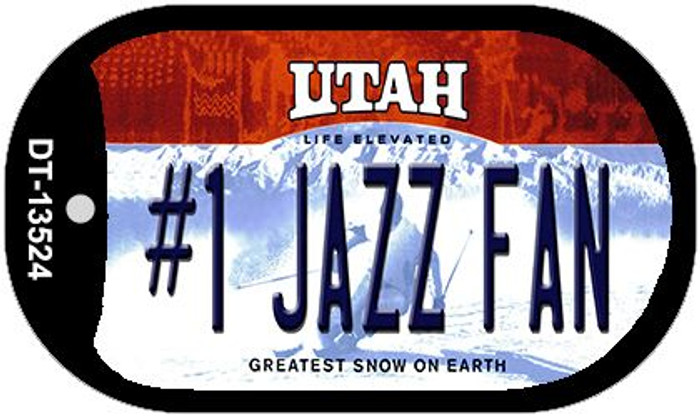 Number 1 Jazz Fan Novelty Metal Dog Tag Necklace DT-13524