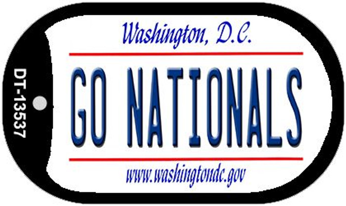 Go Nationals Novelty Metal Dog Tag Necklace DT-13537
