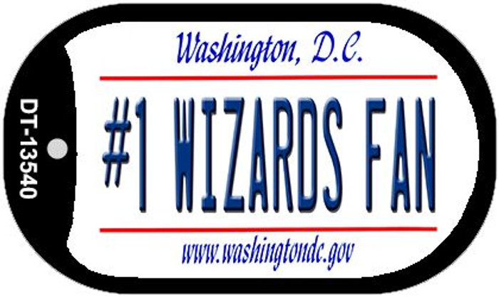 Number 1 Wizards Fan Novelty Metal Dog Tag Necklace DT-13540
