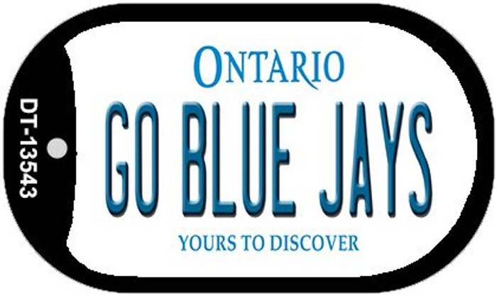 Go Blue Jays Novelty Metal Dog Tag Necklace DT-13543