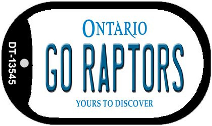 Go Raptors  Novelty Metal Dog Tag Necklace DT-13545