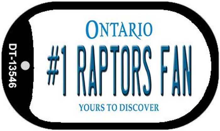 Number 1 Raptors Fan Novelty Metal Dog Tag Necklace DT-13546