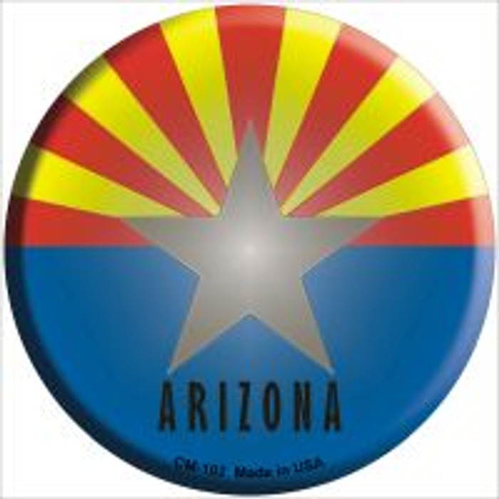 Arizona State Flag Novelty Metal Mini Circle Magnet CM-102