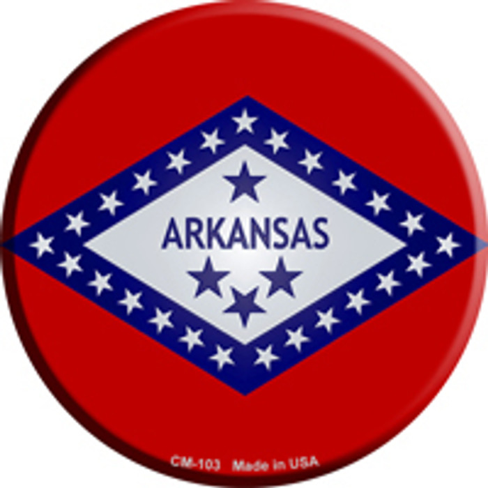 Arkansas State Flag Novelty Metal Mini Circle Magnet CM-103