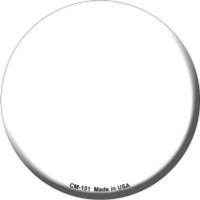 White Novelty Metal Mini Circle Magnet CM-151