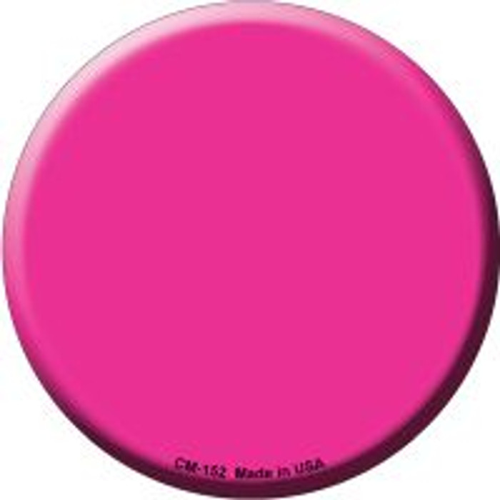 Pink Novelty Metal Mini Circle Magnet CM-152