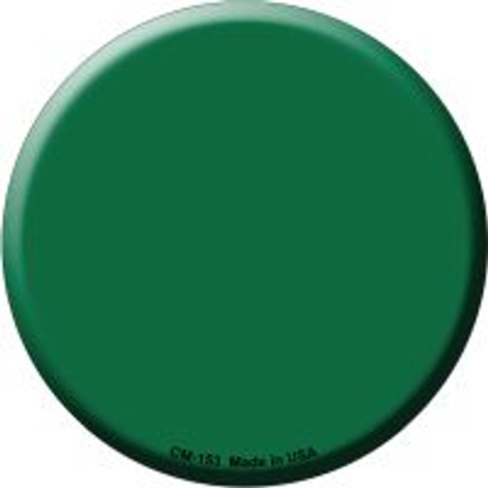 Green Novelty Metal Mini Circle Magnet CM-153