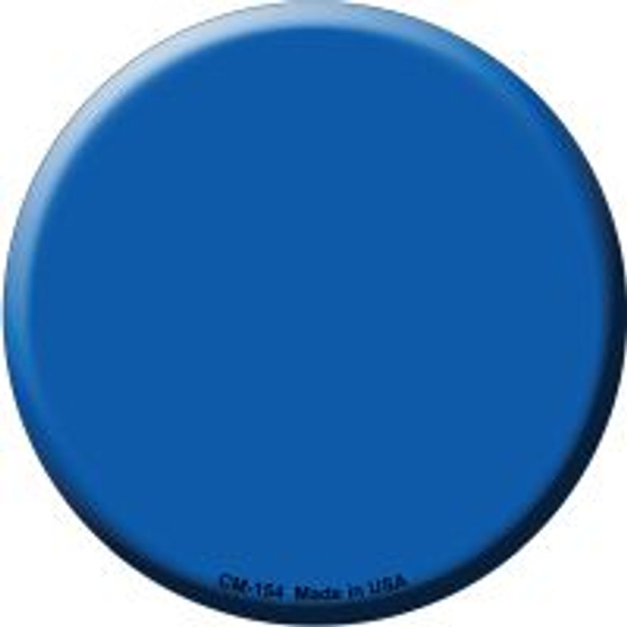 Blue Novelty Metal Mini Circle Magnet CM-154