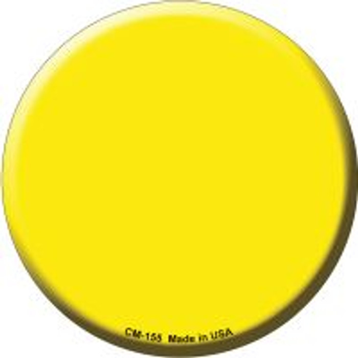 Yellow Novelty Metal Mini Circle Magnet CM-155