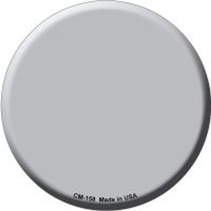 Gray Novelty Metal Mini Circle Magnet CM-158