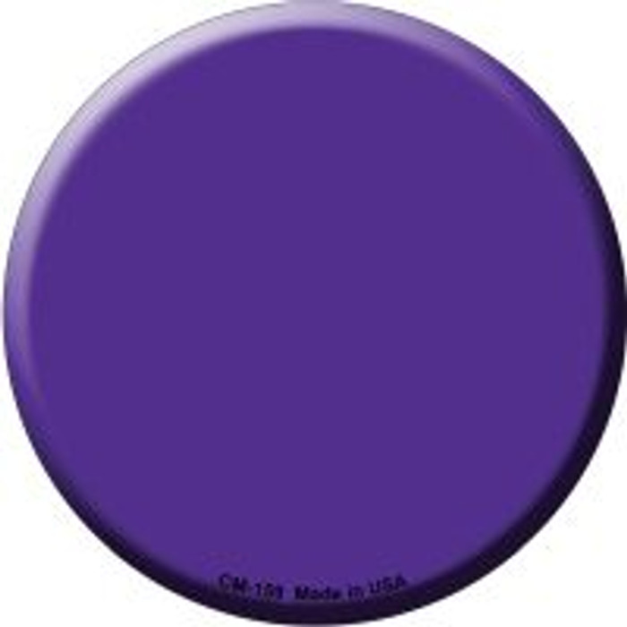 Purple Novelty Metal Mini Circle Magnet CM-159