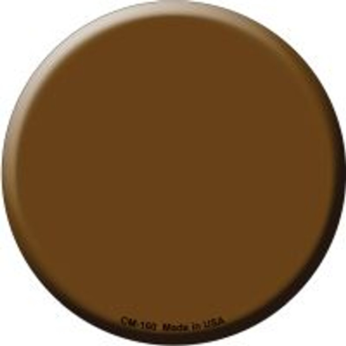 Brown Novelty Metal Mini Circle Magnet CM-160