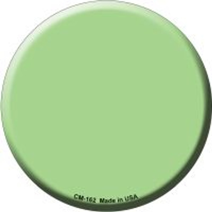Lime Green Novelty Metal Mini Circle Magnet CM-162