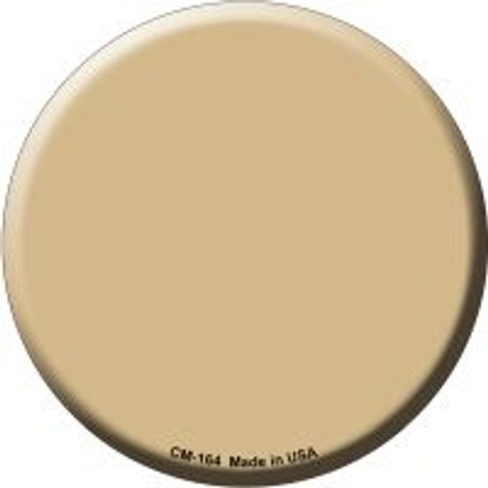 Gold Novelty Metal Mini Circle Magnet CM-164