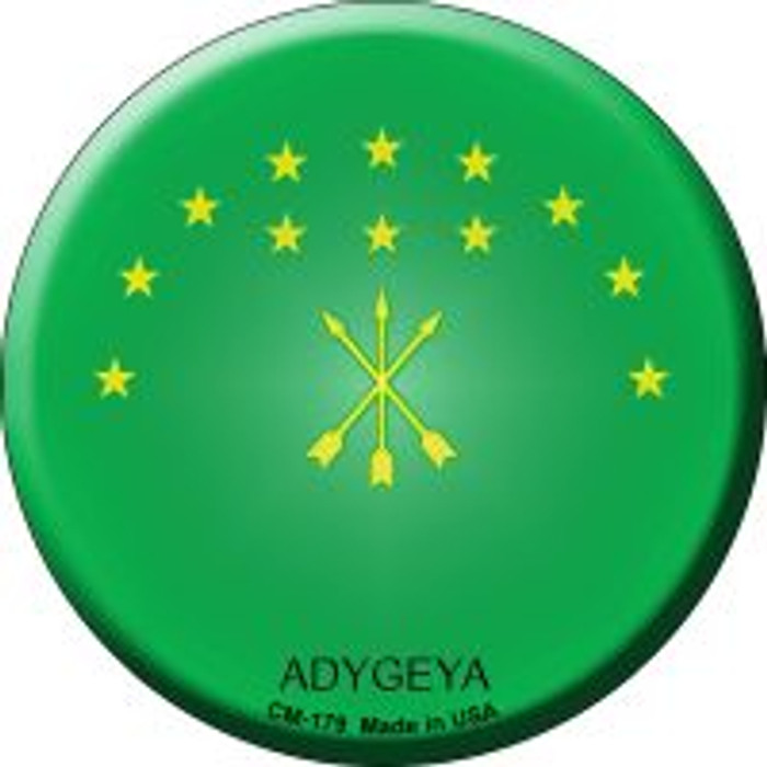 Adygeya Country Novelty Metal Mini Circle Magnet CM-179