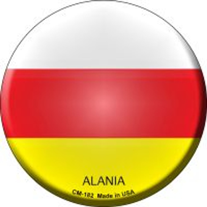Alania Country Novelty Metal Mini Circle Magnet CM-182