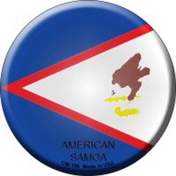 American Samoa Country Novelty Metal Mini Circle Magnet CM-186